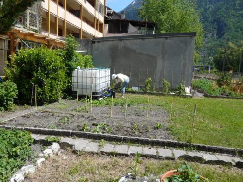 cuve d'eau du jardin partagé