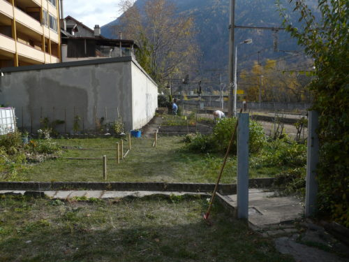 amménagement du jardin