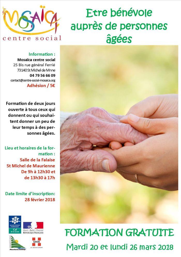 affiche formation bénévole aurpès des persones âgées