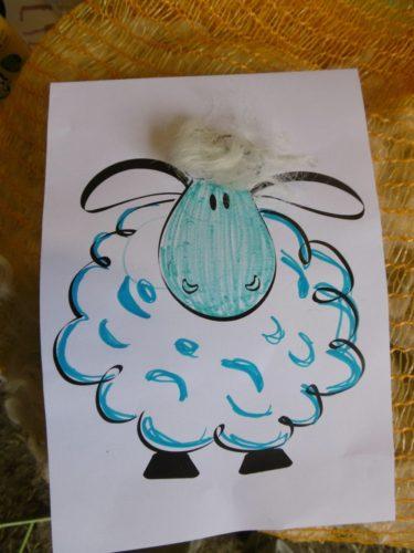 Mouton bleu réalisé par Léon et sa maman