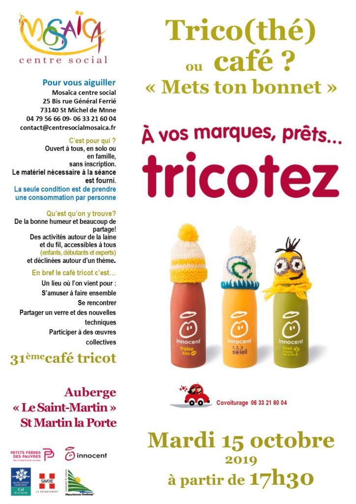 Affiche cafe tricot 31