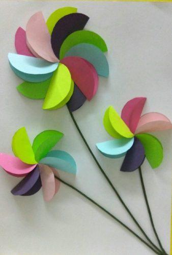 fleurs arc en ciel