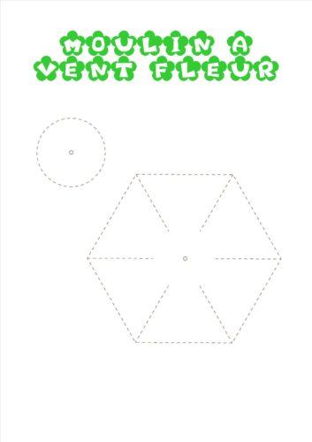 modele moulin fleur
