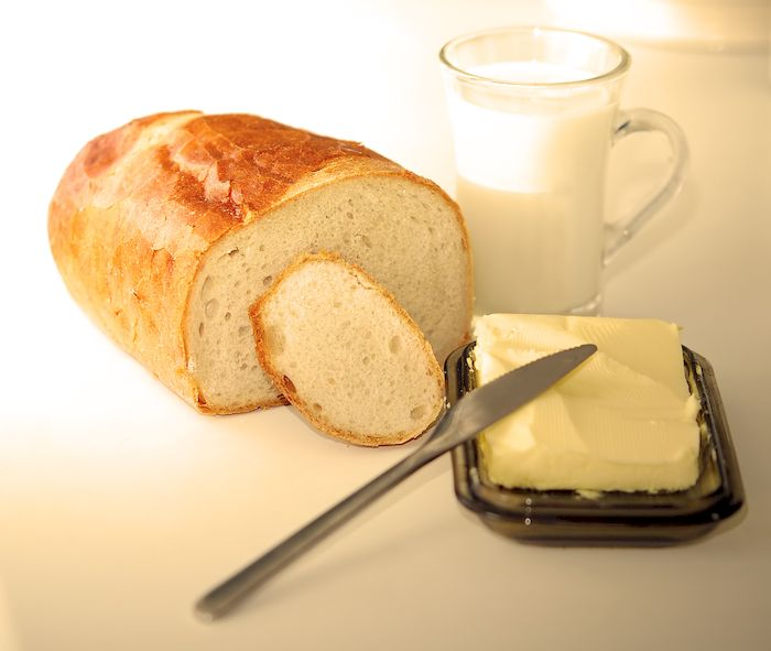 Breadroll and milk