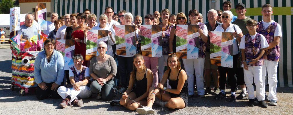 Photo de groupe lors du forum des associations 2019 à Valloire